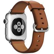 Умные часы Apple Watch 38mm Stainless Steel with Saddle Brown Classic [MMF72]  фото 2