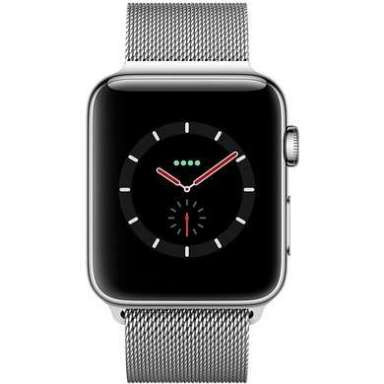 Apple Watch Series 4 LTE 44 мм (сталь серебристый/миланский)