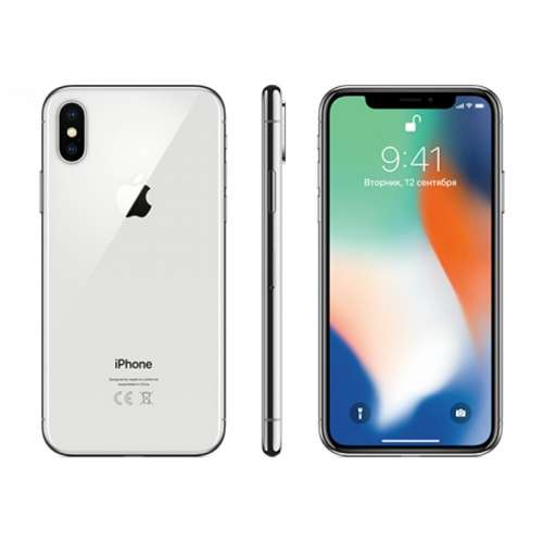 Смартфон Apple iPhone X 256GB (серебристый) фото 3