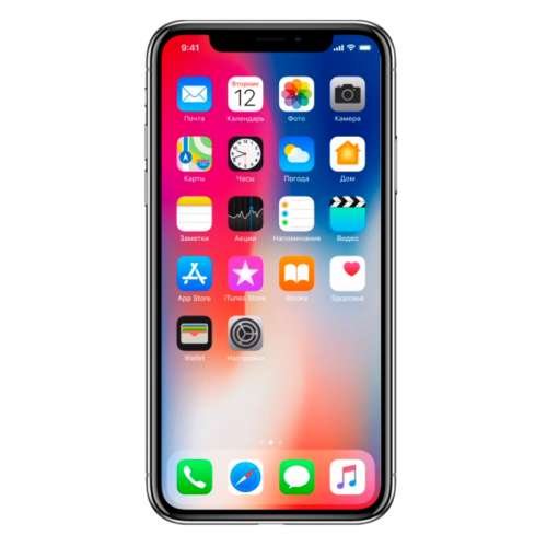 Смартфон Apple iPhone X 256GB (серый космос) фото 1
