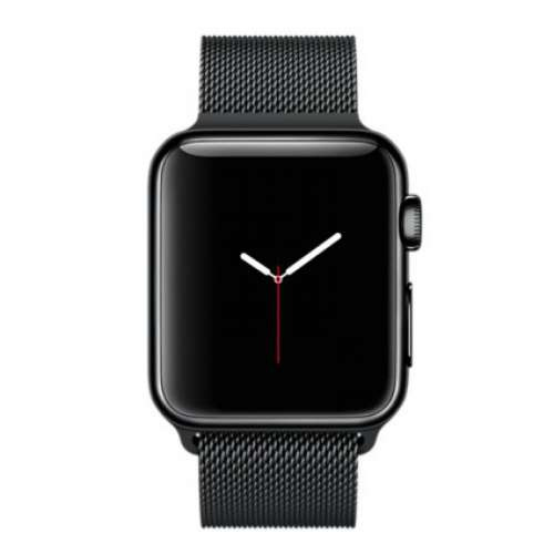Умные часы Apple Watch 38mm Space Black with Space Black Milanese Loop [MMFK2] фото 1
