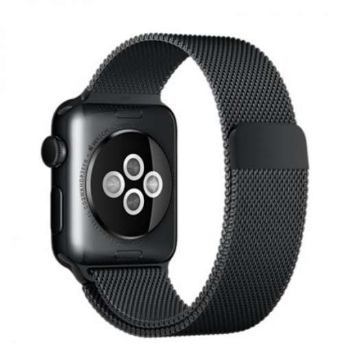 Умные часы Apple Watch 38mm Space Black with Space Black Milanese Loop [MMFK2] фото 3