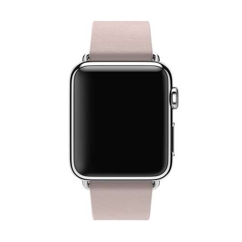 Умные часы Apple Watch 38mm Stainless Steel with Soft Pink Modern Buckle [MJ372] фото 1