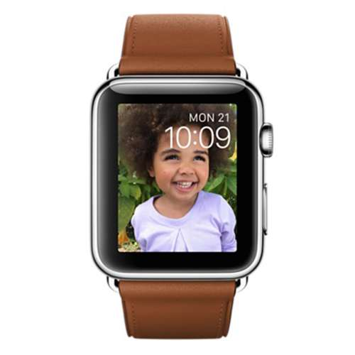 Умные часы Apple Watch 42mm Stainless Steel with Saddle Brown Classic [MMFT2] фото 1