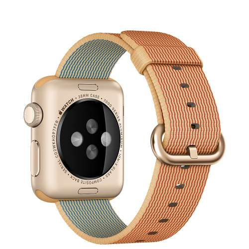 Умные часы Apple Watch Gold 38mm Gold with Gold/Red Woven Nylon [MMF52] фото 2