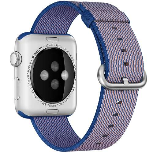 Умные часы Apple Watch Sport 38mm Rose Gold with Royal Blue Woven Nylon [MMFP2]  фото 2