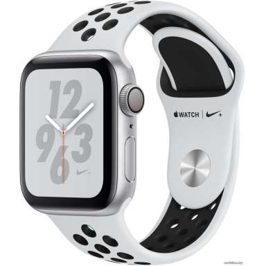 Apple Watch Nike+ 40 мм (алюминий серебристый/чистая платина, черный)