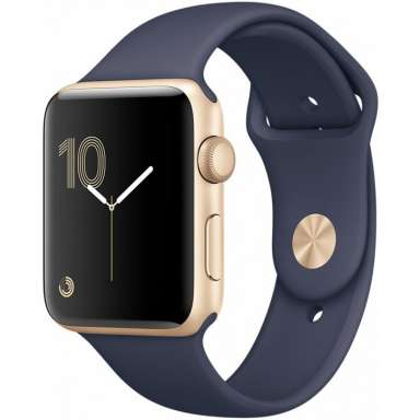 Apple Watch Series 1 38mm Gold with Midnight Blue Sport Band [MQ102]