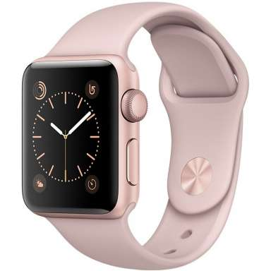 Apple Watch Series 1 38mm Rose Gold with Pink Sand Sport Band [MNNH2]