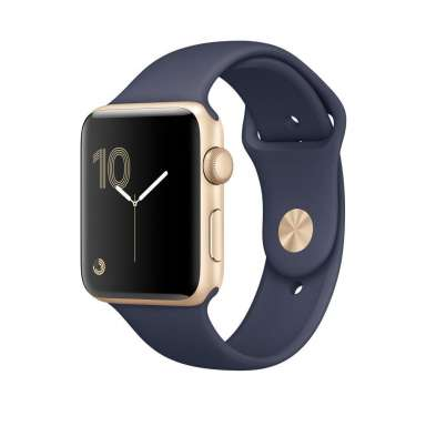 Apple Watch Series 1 42mm Gold with Midnight Blue Sport Band [MQ122]