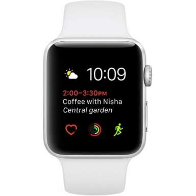 Apple Watch Series 1 42mm Silver with White Sport Band [MNNL2]