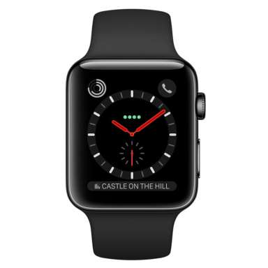 Apple Watch Series 2 38mm Space Black with Black Sport Band [MP492]