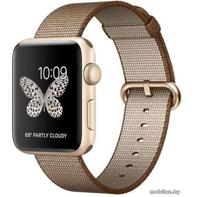 Apple Watch Series 2 42mm Gold with Woven Nylon [MNPP2]