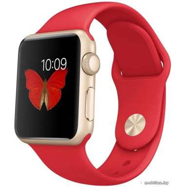 Apple Watch Sport 38mm Goldl with Red Sport Band [MMEC2]