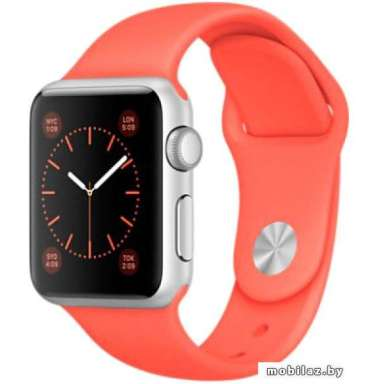 Apple Watch Sport 38mm Silver with Apricot Sport Band [MMF12]