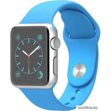 Apple Watch Sport 38mm Silver with Blue Sport Band (MLCG2)