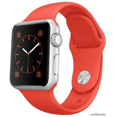 Apple Watch Sport 38mm Silver with Orange Sport Band (MLCF2)