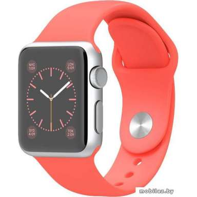Apple Watch Sport 38mm Silver with Pink Sport Band (MJ2W2)