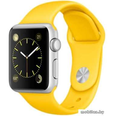 Apple Watch Sport 38mm Silver with Yellow Sport Band [MMF02]