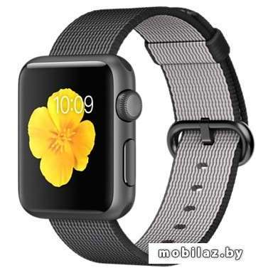 Apple Watch Sport 38mm Space Gray with Black Woven Nylon [MMF62]
