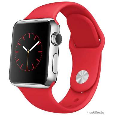 Apple Watch Sport 38mm Stainless Steel with Red Sport Band (MLLD2)