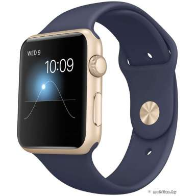 Apple Watch Sport 42mm Gold with Midnight Blue Sport Band (MLC72)