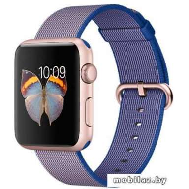 Apple Watch Sport 42mm Rose Gold with Royal Blue Woven Nylon [MMFP2]