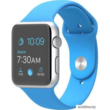 Apple Watch Sport 42mm Silver with Blue Sport Band (MLC52)