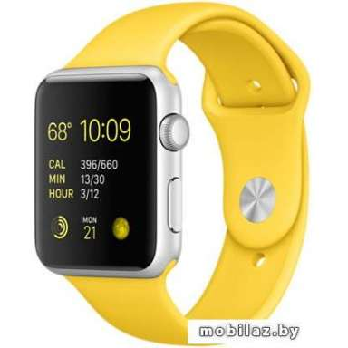 Apple Watch Sport 42mm Silver with Yellow Sport Band [MMFE2]