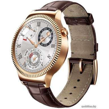 Huawei Watch Rose Gold Stainless Steel with Brown Leather Strap