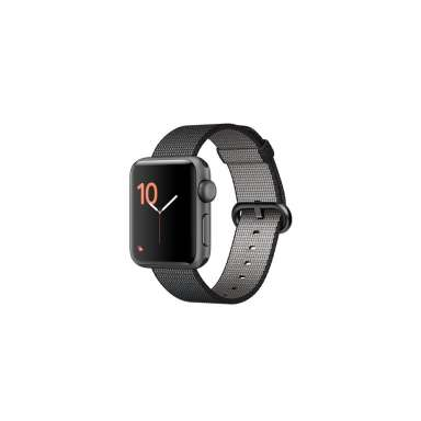 Apple Watch Series 2 38mm Space Gray with Black Woven Nylon [MP052]