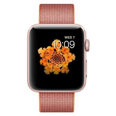 Apple Watch Series 2 42mm Rose Gold with Woven Nylon [MNPM2]