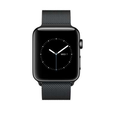 Apple Watch Series 2 42mm Space Black with Milanese Loop [MNQ12]
