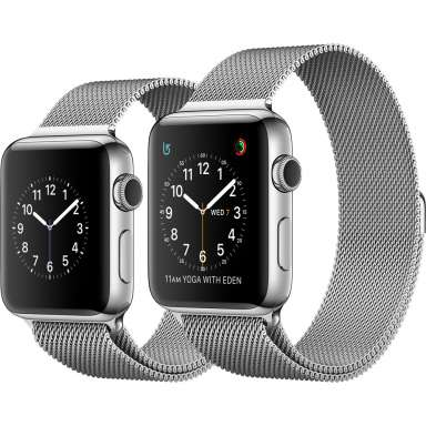 Apple Watch Series 2 42mm Stainless Steel with Milanese Loop [MNPU2]