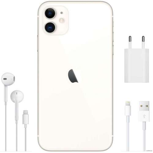 Смартфон Apple iPhone 11 128GB (белый) фото 5