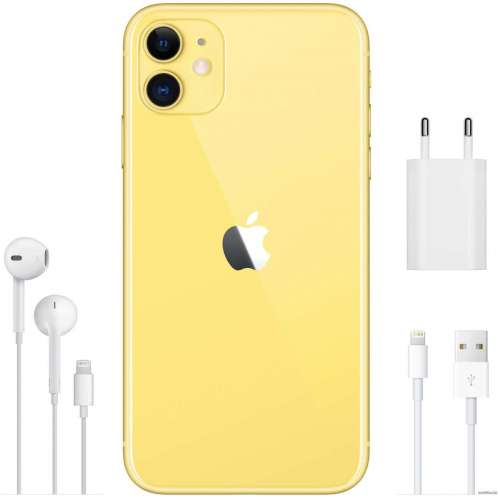 Смартфон Apple iPhone 11 64GB (желтый) фото 5
