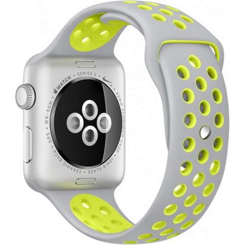 Apple Watch Nike+ 38mm Silver with Flat Silver/Volt Nike Band [MNYP2] фото 4