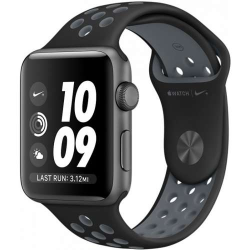 Apple Watch Nike+ 38mm Space Gray with Black/Cool Gray Band [MNYX2] фото 1