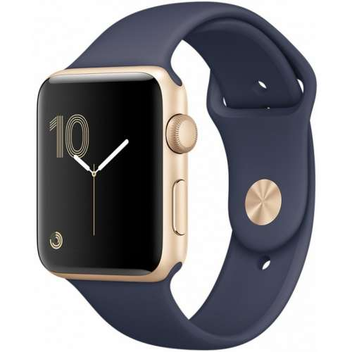 Apple Watch Series 1 38mm Gold with Midnight Blue Sport Band [MQ102] фото 1