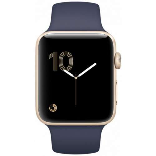 Apple Watch Series 1 38mm Gold with Midnight Blue Sport Band [MQ102] фото 2