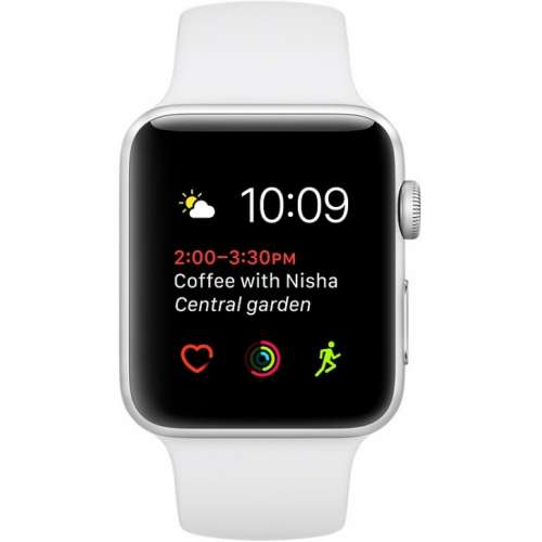 Apple Watch Series 1 38mm Silver with White Sport Band [MNNG2] фото 2