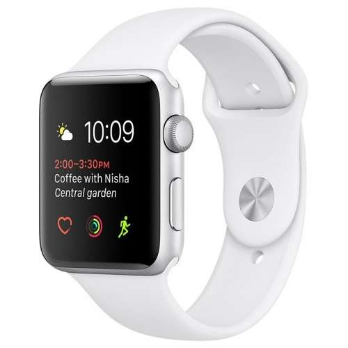 Apple Watch Series 1 42mm Silver with White Sport Band [MNNL2] фото 2