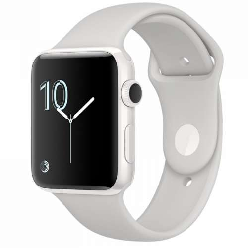 Apple Watch Series 2 38mm White Ceramic with Cloud Sport Band [MNPF2] фото 1