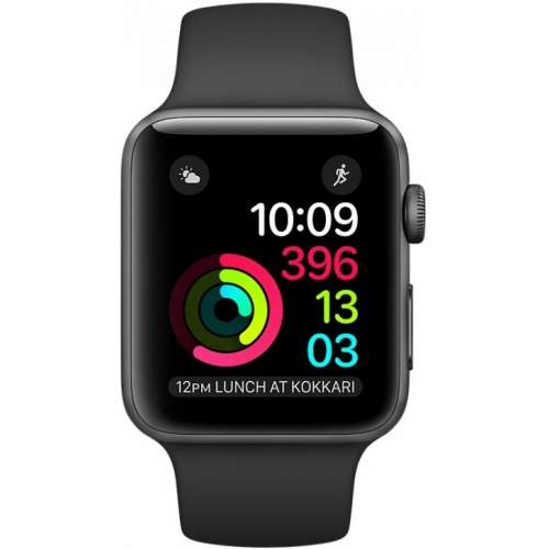 Apple Watch Series 2 42mm Space Gray with Black Sport Band [MP062] фото 2