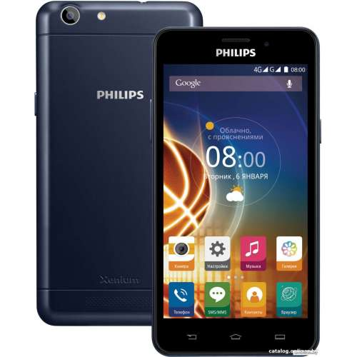 Смартфон Philips Xenium V526 Blue фото 5