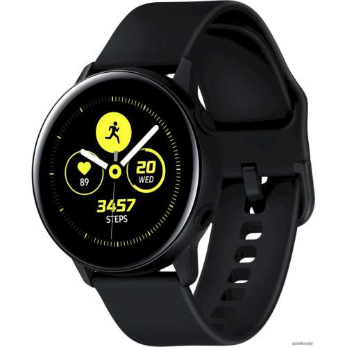 Умные часы Samsung Galaxy Watch Active (черный сатин) фото 1