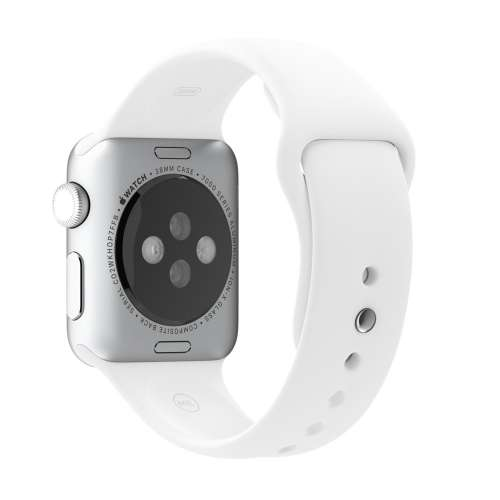 Умные часы Apple Watch 38mm Stainless Steel with White Sport Band (MJ302) фото 3