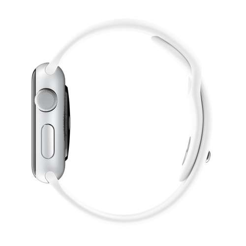 Умные часы Apple Watch 38mm Stainless Steel with White Sport Band (MJ302) фото 4