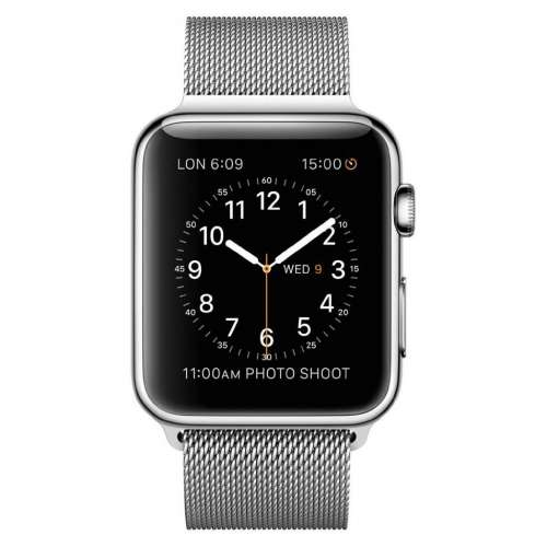 Умные часы Apple Watch 42mm Stainless Steel with Milanese Loop (MJ3Y2) фото 1