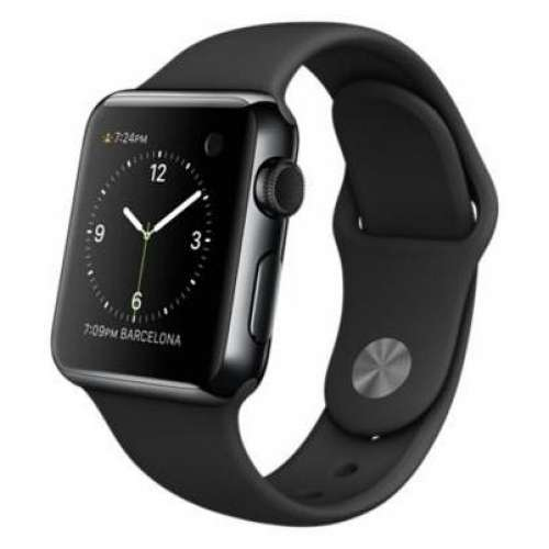 Умные часы Apple Watch Edition 38mm Space Black with Black Sport Band (MLCK2) фото 2